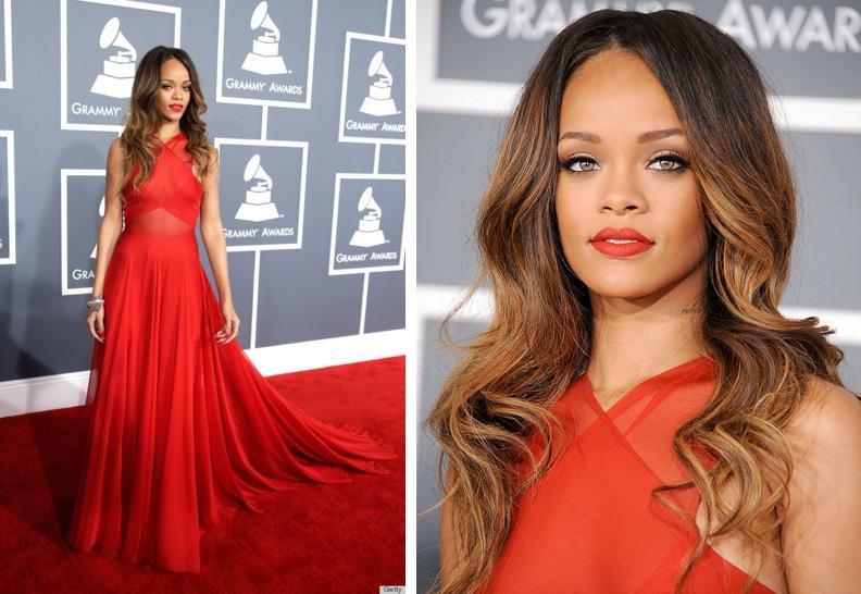Vestito rosso e smalto rosso