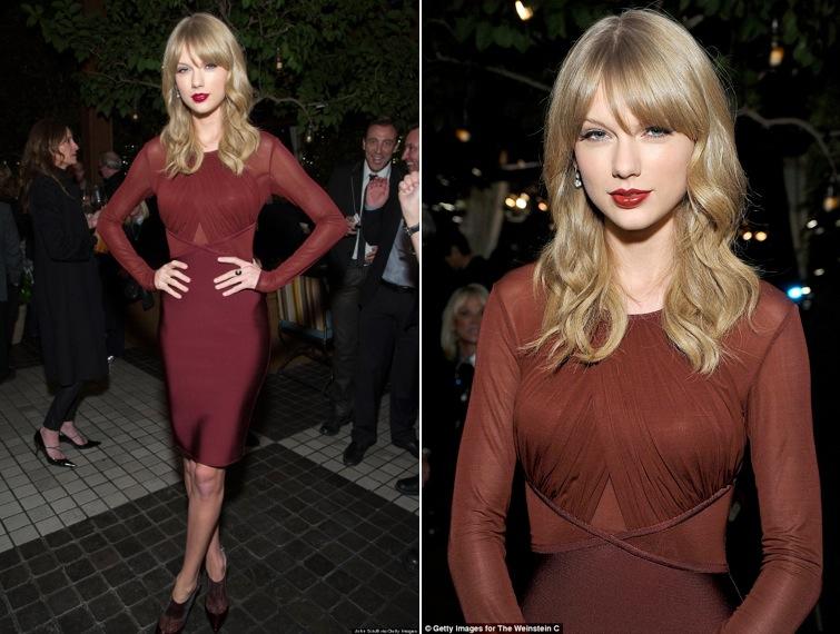 Make up vestito nero e rosso