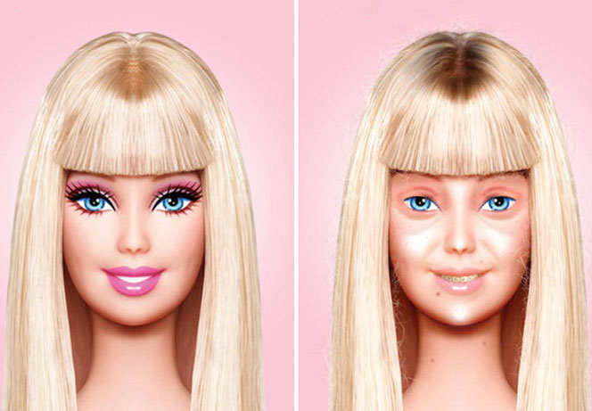 Barbie-struccata-con-acqua-micellare