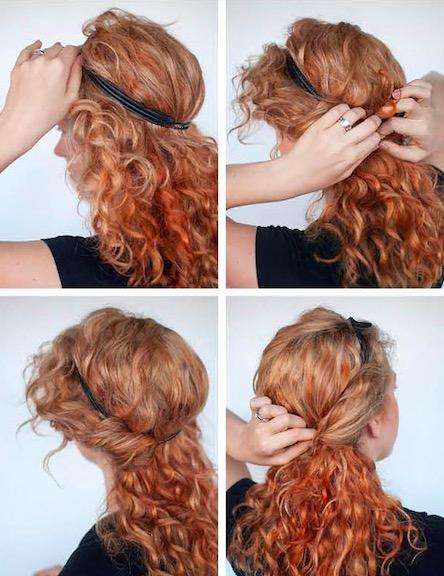 Come raccogliere i capelli mossi media
