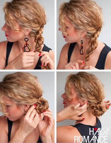 Come legare capelli lunghi ricci