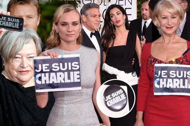 Celebrities-support-Je-Suis-Charlie-at-Golden-Globes-2015